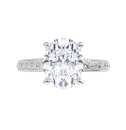 Oval Moissanite Solitaire Ring - 1.50tcw - 3.00tcw