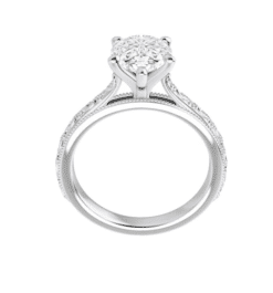 Pear Moissanite Solitaire Ring - 1.50tcw - 2.10tcw