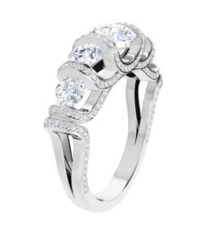 Round Moissanite Anniversary Wedding Band Ring - 2.11tcw
