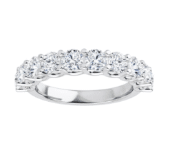 Round Moissanite Anniversary Wedding Band Ring - 1.60tcw - 2.07tcw