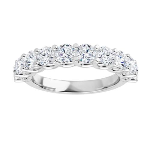Round Moissanite Anniversary Wedding Band Ring - 1.60tcw - 2.07tcw
