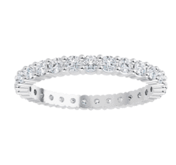Round Moissanite Eternity Wedding Band Ring 0.75tcw - 3.45tcw