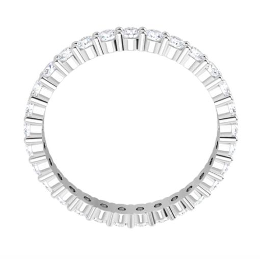 Round Moissanite Eternity Wedding Band Ring 0.75tcw - 3.45tcw