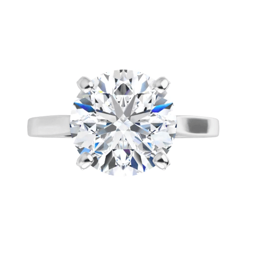 Round Moissanite Hidden Halo Engagement Ring - 1.20tcw - 6.33tcw