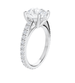 Round Moissanite Hidden Halo Engagement Ring - 2.90tcw -7.13tcw