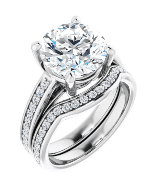 Round Moissanite Solitaire Engagement Ring - 2.15tcw - 6.38tcw