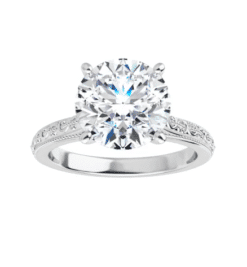 Round Moissanite Solitaire Ring - 1.90tcw - 4.75tcw
