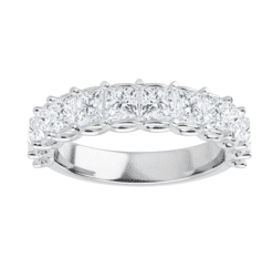 Square Moissanite Anniversary Wedding Band Ring - 2.16tcw - 4.51tcw