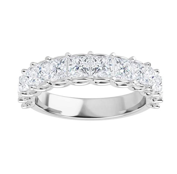 Square Moissanite Anniversary Wedding Band Ring - 2.16tcw - 4.51tcw