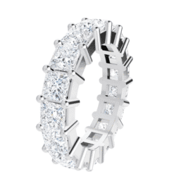 Square Moissanite Eternity Wedding Band Ring - 3.78tcw -6.97tcw