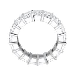 Square Moissanite Eternity Wedding Band Ring - 3.78tcw -6.97tcw