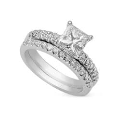Square Moissanite Solitaire Engagement Ring - 1.50tcw - 4.50tcw