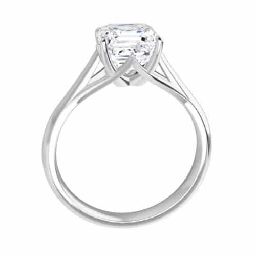 Asscher Moissanite Solitaire Ring - 1.70ct