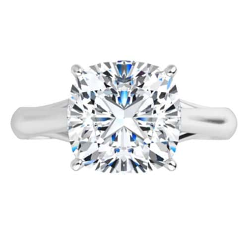 Cushion Moissanite Solitaire Ring - 1.10ct - 3.30ct