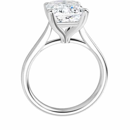 Emerald Moissanite Classic Solitaire Ring - 1.01ct - 6.50ct