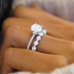3.00tcw Round Moissanite Forever One Colorless Full Eternity Ring