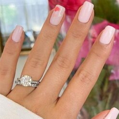 2.60tcw Round Moissanite Forever One Colorless Wedding Set Ring