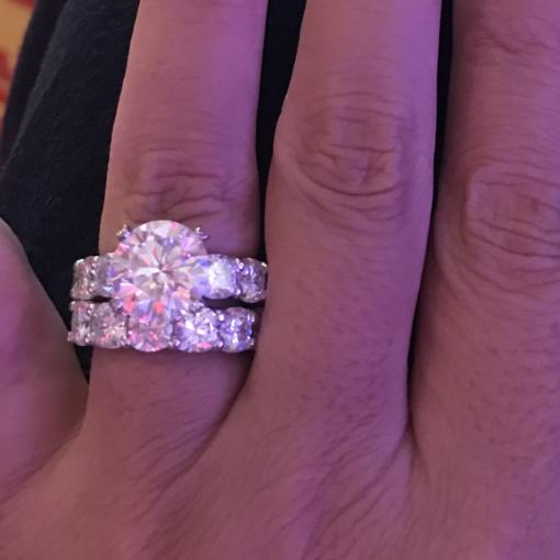 10.50tcw Round Moissanite Forever One Wedding Set Ring