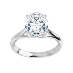 Oval Moissanite Classic Solitaire Ring - 0.90ct - 3.00ct