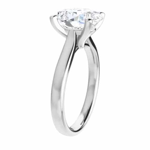 Oval Moissanite Classic Solitaire Ring - 1.50ct - 5.80ct