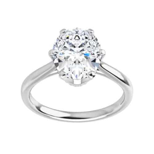 Oval Moissanite Solitaire Ring - 0.90ct - 5.80ct