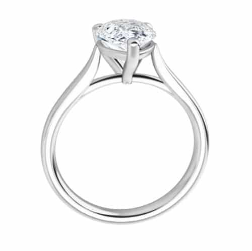 Pear Moissanite Solitaire Ring - 0.94ct - 2.10ct