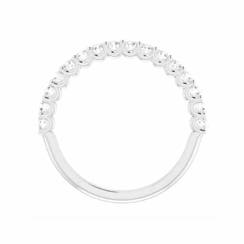Round Moissanite Matching Band Ring - 0.48tcw
