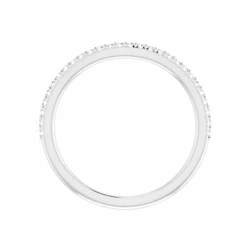 Round Moissanite Matching Band Ring - 0.20tcw