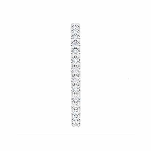Round Moissanite Matching Band Ring - 0.58tcw