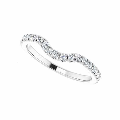 Round Moissanite Matching Band Ring - 0.57tcw