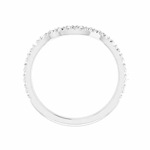 Round Moissanite Matching Band Ring - 0.60tcw