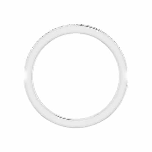 Round Moissanite Matching Wedding Ring - 0.22tcw