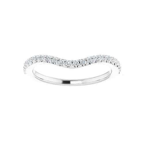 Round Moissanite Matching Wedding Ring - 0.24tcw
