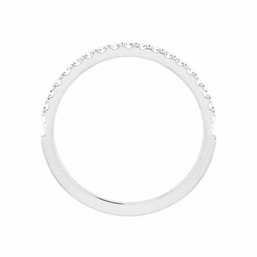 Round Moissanite Matching Wedding Ring - 0.43tcw