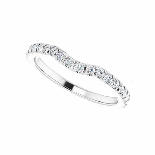 Round Moissanite Matching Wedding Ring - 0.58tcw