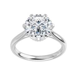 Round Moissanite Solitaire Ring - 1.00ct - 3.60ct