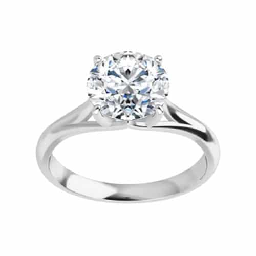 Round Moissanite Solitaire Ring - 1.00ct - 3.10ct