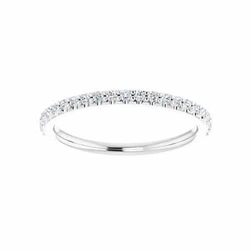 Round Moissanite Wedding Band Eternity Ring - 0.23tcw