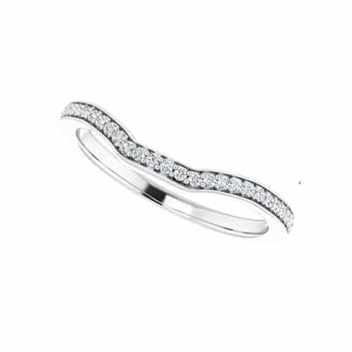 Round Moissanite Wedding Band Eternity Ring - 0.14tcw