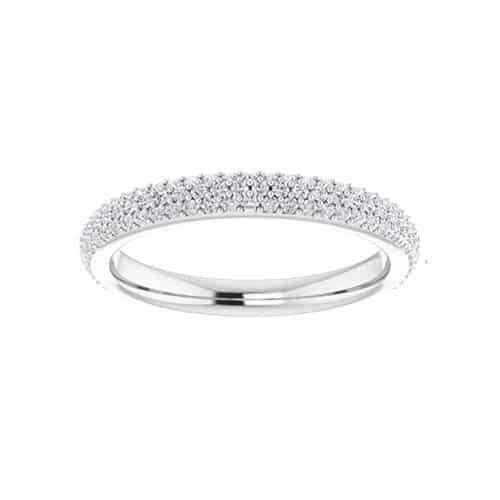 Round Moissanite Wedding Band Eternity Ring - 0.53tcw
