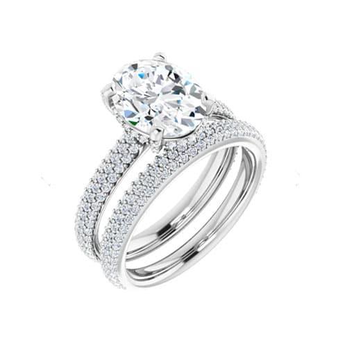 Round Moissanite Wedding Band Eternity Ring - 0.53tcw
