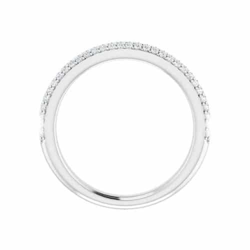 Round Moissanite Wedding Band Eternity Ring - 0.49tcw