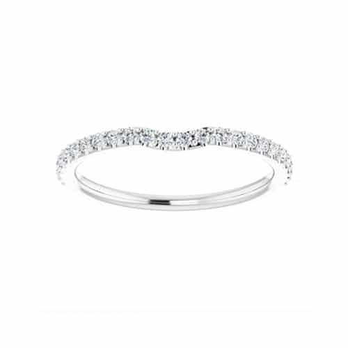 Round Moissanite Wedding Band Eternity Ring - 0.24tcw