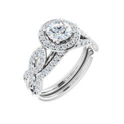 Round Moissanite Wedding Band Eternity Ring - 0.20tcw