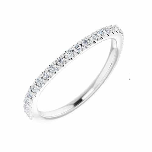 Round Moissanite Wedding Band Eternity Ring - 0.25tcw