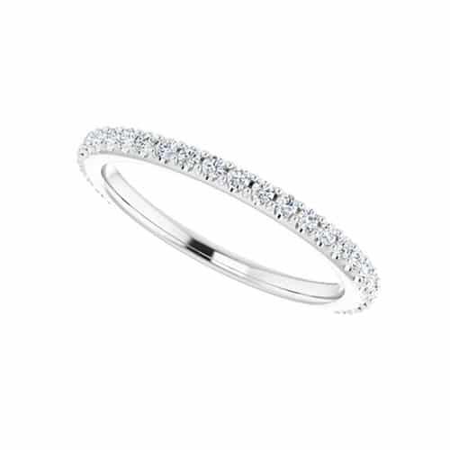 Round Moissanite Wedding Band Eternity Ring - 0.36tcw