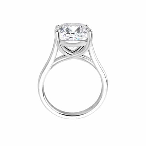 Cushion Moissanite Lucida Solitaire Ring - 0.60tcw - 5.02tcw