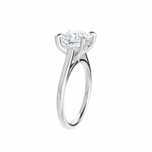 Cushion Moissanite Lucida Solitaire Ring - 1.10tcw - 2.40tcw