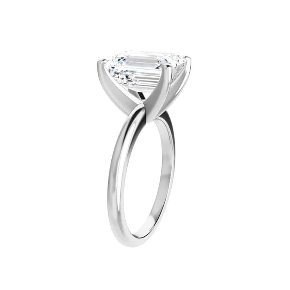 Emerald Moissanite Classic Solitaire Ring - 1.01tcw - 6.50tcw