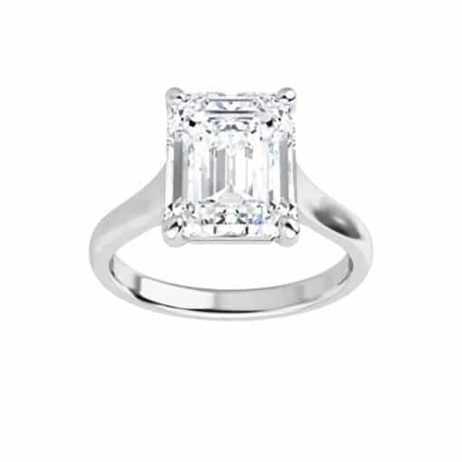 Emerald Moissanite Lucida Solitaire Ring - 1.01tcw - 6.50tcw